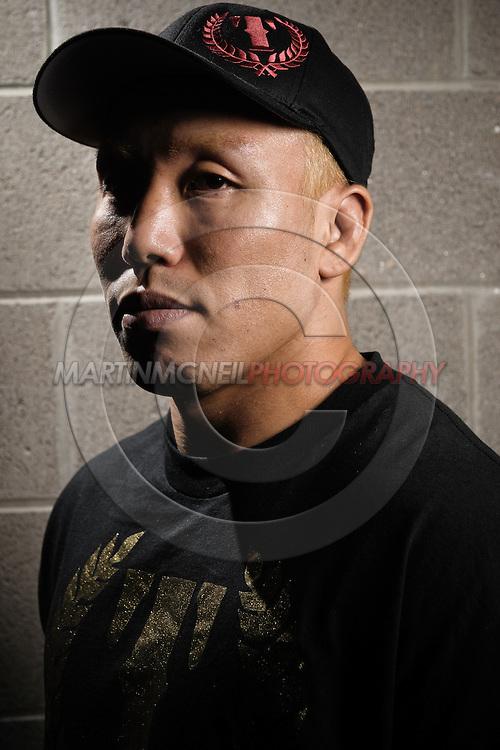 "A portrait of mixed martial arts athlete Ryo ""Piranha"" Chonan"