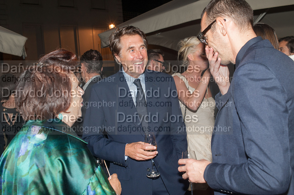 SUSY MENKES; BRYAN FERRY; ALESSANDRO SATORI, Dinner to celebrate the opening of the first Berluti lifestyle store hosted by Antoine Arnault and Marigay Mckee. Harrods. London. 5 September 2012.