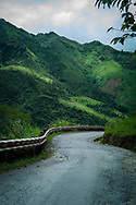 Deserted road in mountainous area of Mau Son, Vietnam, Southeast Asia