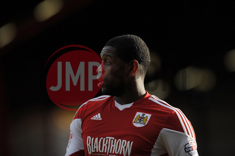 Bristol City's Jay Emmanuel-Thomas - Photo mandatory by-line: Dougie Allward/JMP - Tel: Mobile: 07966 386802 01/03/2014 - SPORT - FOOTBALL - Bristol - Ashton Gate - Bristol City v Gillingham - Sky Bet League One