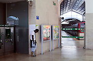 Empty trainstation in Rossio, Lisbon, during the general strike against the new austerity measures created by the government. November 24th, 2011