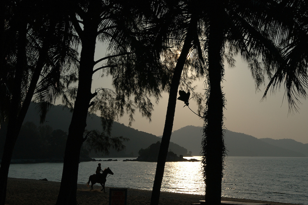 MALAYSIA: Penang island.Horse riding on the west coast