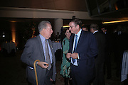Lord Imber and Lord Ashcroft. 'Dirty politics, Dirty times: My fight with Wapping and New Labour' by Michael Ashcroft. Book launch party in aid of Crimestoppers. Riverbank Plaza Hotel. London SE1.      October 10 2005. ONE TIME USE ONLY - DO NOT ARCHIVE © Copyright Photograph by Dafydd Jones 66 Stockwell Park Rd. London SW9 0DA Tel 020 7733 0108 www.dafjones.com