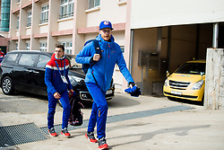 February 9, 2018 - Pyeongchang, SOUTH KOREA - 180209 Johann AndrŽ Forfang and Robert Johansson of Norway ahead of a press event with the Norwegian men's ski jumping team during the 2018 Winter Olympics on February 9, 2018 in Pyeongchang..Photo: Jon Olav Nesvold / BILDBYRN / kod JE / 160148 (Credit Image: © Jon Olav Nesvold/Bildbyran via ZUMA Press)