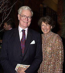 LORD & LADY HURD at a party in London on 15th November 2000.OJD 88