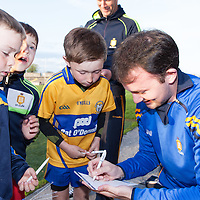 David Tubridy signing his autograph for young Clare supporters