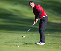 Marco Oliverio putts the ball on the 11th green at Olgebay Resort during the second day of competition.