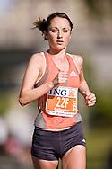 Ottawa, Ontario ---25/05/08--- Michelle Gallagher runs during the ING Ottawa Marathon, May 26, 2008..GEOFF ROBINS /