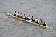 London, Great Britain.<br /> Leander I, passing Barnes Bridge 2016 Head of the River Race, Reverse Championship Course Mortlake to Putney. River Thames. Saturday  19/03/2016<br /> <br /> [Mandatory Credit: Peter SPURRIER;Intersport images]