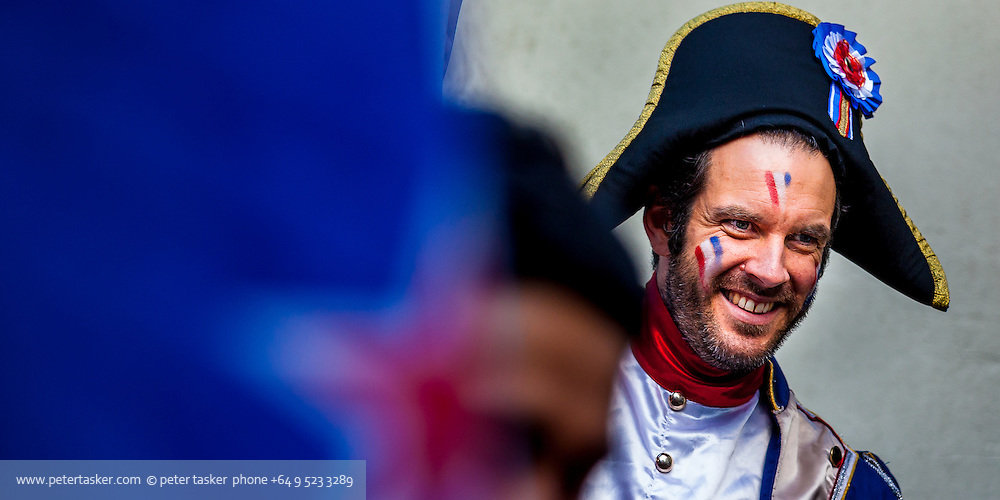 Portrait of French supporter, Rugby World Cup, RWC 2011 Auckland, New Zealand.