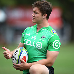 DURBAN, SOUTH AFRICA - APRIL 30: Kyle Whyte of the Cell C Sharks during the Cell C Sharks training session at Jonsson Kings Park on April 30, 2018 in Durban, South Africa. (Photo by Steve Haag/Gallo Images)
