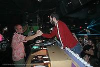 Fatboy Slim djing at Centro Fly on April 24, 2004...©2004 Rahav Segev /Photopass.com..