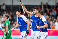 ANTWERP - BELFIUS EUROHOCKEY Championship. men  Ireland-Scotland (3-3). Kenny Bain (Sco) scored and celebrates the goal.  right Alan Forsyth (Sco) .  WSP/ KOEN SUYK