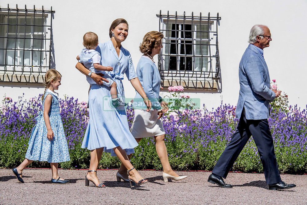 King Carl Gustaf, Queen Silvia of Sweden, Crown Princess Victoria and husband Prince Daniel with their children Princess Estelle, Prince Oscar during the traditionally celebration of Crown Princess Victoria's birthday at the royal family's summer residence, Solliden Palace in Borgholm, Öland, Sweden, on July 15, 2017, a day later Stockholm celebration. Photo by Robin Utrecht/ABACAPRESS.COM