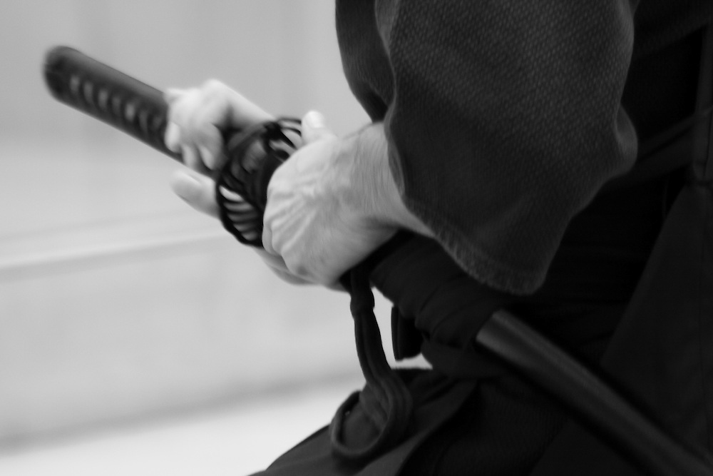 The essence of Iaido is the sword waiting to leave the scabbard at any moment