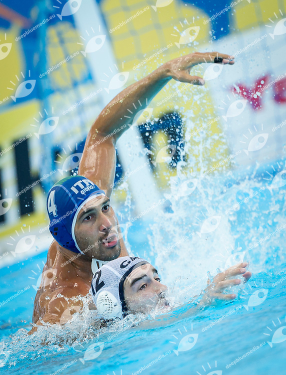 CAN-ITA<br /> Canada Vs Italy<br /> FIGLIOLI Pietro ITA<br /> MCELROY Jerry CAN<br /> Day 10 02/08/2015<br /> XVI FINA World Championships Aquatics<br /> Waterpolo<br /> Kazan Tatarstan RUS July 24 - Aug. 9 2015 <br /> Photo Pasquale Mesiano/Deepbluemedia/Insidefoto