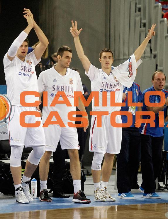 DESCRIZIONE : Lubiana Ljubliana Slovenia Eurobasket Men 2013 Finale Settimo Ottavo Posto Serbia Italia Final for 7th to 8th place Serbia Italy<br /> GIOCATORE : Team Serbia<br /> CATEGORIA : esultanza jubilation<br /> SQUADRA : Serbia Serbia <br /> EVENTO : Eurobasket Men 2013<br /> GARA : Serbia Italia Serbia Italy<br /> DATA : 21/09/2013 <br /> SPORT : Pallacanestro <br /> AUTORE : Agenzia Ciamillo-Castoria/A.Cukic<br /> Galleria : Eurobasket Men 2013<br /> Fotonotizia : Lubiana Ljubliana Slovenia Eurobasket Men 2013 Finale Settimo Ottavo Posto Serbia Italia Final for 7th to 8th place Serbia Italy<br /> Predefinita :