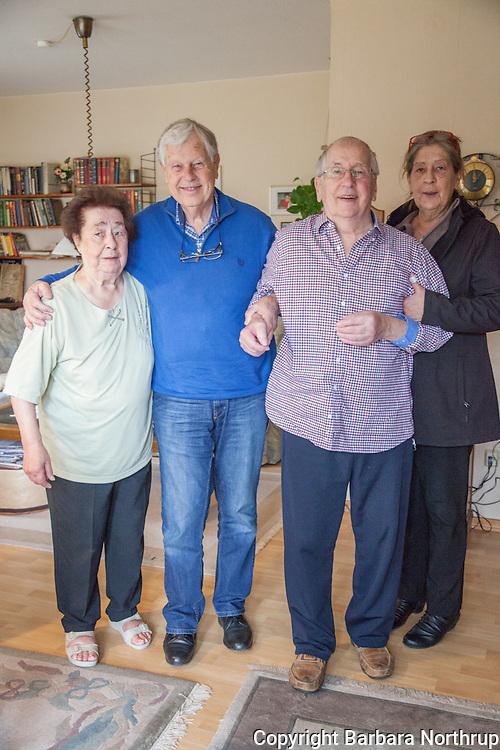 Home of Harold and Inge.  Inge, Klaus, Harold, Regina.