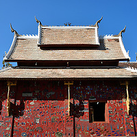 The Red Chapel at Wat Xieng Thong in Luang Prabang, Laos <br />