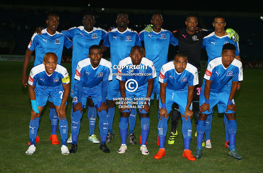 Maritzburg Utd during the 2016 Premier Soccer League match between Maritzburg Utd and SuperSport United held at the Harry Gwala Stadium in Pietermaritzburg, South Africa on the 21st September 2016<br /> <br /> Photo by:   Steve Haag / Real Time Images