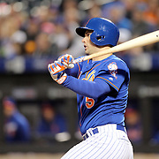 NEW YORK, NEW YORK - APRIL 11: David Wright, New York Mets, batting during the Miami Marlins Vs New York Mets MLB regular season ball game at Citi Field on April 11, 2016 in New York City. (Photo by Tim Clayton/Corbis via Getty Images)