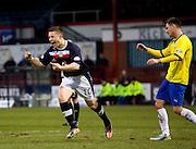 Dundee's John Baird celebrates after scoring - Dundee v Greenock Morton, William Hill Scottish Cup 5th Round at Dens Park .. - © David Young - www.davidyoungphoto.co.uk - email: davidyoungphoto@gmail.com