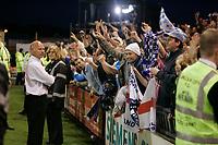 Photo: Pete Lorence.<br />Lincoln City v Bristol Rovers. Coca Cola League 2. Play off, Semi Final 2nd Leg. 17/05/2007.<br />Bristol fans celebrate victory over Lincoln.
