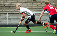 AMSTELVEEN -  Billy Bakker (A'dam)  tijdens Amsterdam-Tilburg (4-2), competitie Hoofdklasse hockey heren   (2017-2018) . COPYRIGHT KOEN SUYK