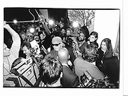 Karl Largerfeld at his photo exhibit opening. New York. 1993 approx. © Copyright Photograph by Dafydd Jones 66 Stockwell Park Rd. London SW9 0DA Tel 020 7733 0108 www.dafjones.com