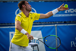 Aldin Setkic (BIH)  plays against Blaz Kavcic (SLO) at ATP Challenger Zavarovalnica Sava Slovenia Open 2017, on August 9, 2017 in Sports centre, Portoroz/Portorose, Slovenia. Photo by Vid Ponikvar / Sportida