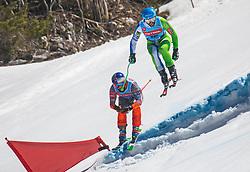Flisar Filip and Kline Bostjan from Slovenia during Dila Challenge 2019 between Kline Bostjan and Flisar Filip , on March 30, 2019, on Krvavec, Slovenia. Photo by Urban Meglic / Sportida