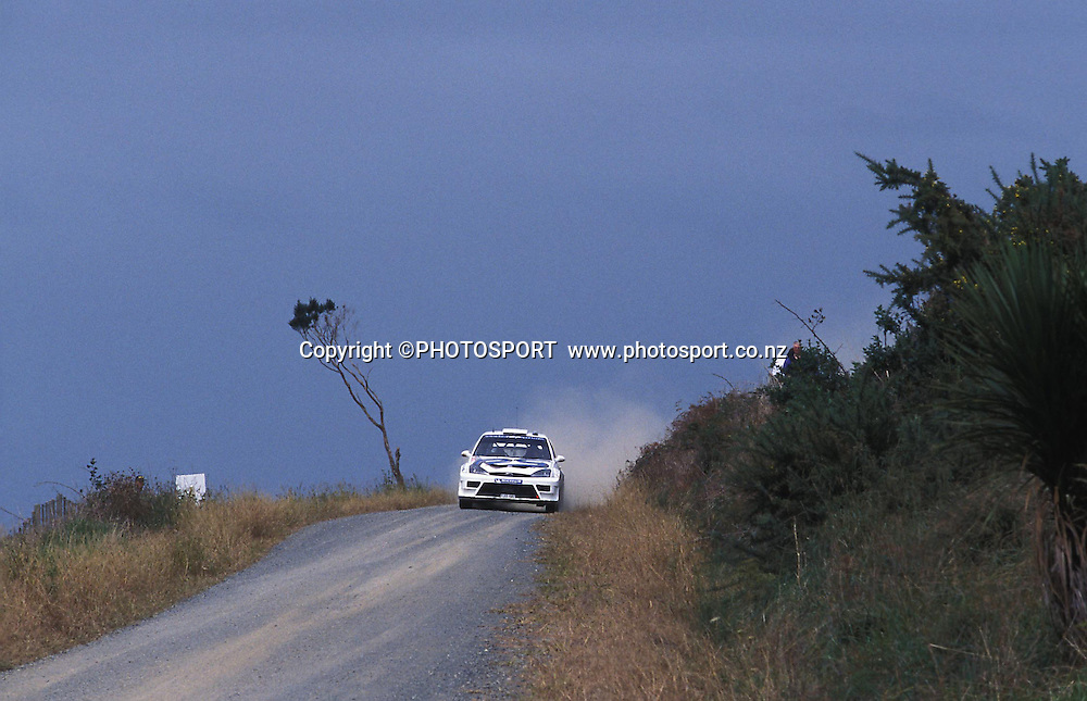 Francois Duval in action during the WRC Rally of New Zealand, 11 April 2003.  PHOTO: Kyle Melnyk/PHOTOSPORT