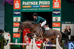 SCOTT Hilary (AUS), Qualoma Z<br /> Leipzig - Partner Pferd 2020<br /> Championat von Leipzig<br /> Springprfg. mit Stechen, international<br /> Höhe: 1.50 m<br /> 18. Januar 2020<br /> © www.sportfotos-lafrentz.de/Stefan Lafrentz