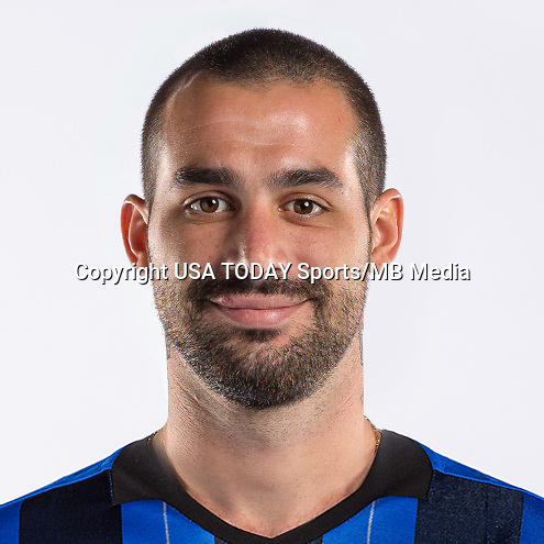 Feb 25, 2016; USA; Montreal Impact player Andres Romero poses for a photo. Mandatory Credit: USA TODAY Sports
