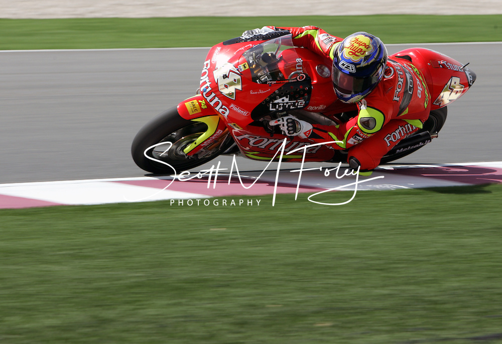 Spain's Jorge Lorenzo, 250cc, MOTO GP, Commercial Bank Grad Prix, Losail International Circuit, 8 Apr 06