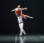 Her Name was Carmen <br /> The St. Petersburg Ballet Theatre at London Coliseum, London, Great Britain <br /> 23rd August 2016 <br /> rehearsal <br /> <br /> Irina Kolesnikova<br /> choreography by Olga Kostel <br /> <br /> <br /> Anna Samostrelova <br /> Dmitry Akulinin<br /> Iii Mirov <br /> Mikhail Tkachuk <br /> Maria Velikaya <br /> <br /> <br /> <br /> Photograph by Elliott Franks <br /> Image licensed to Elliott Franks Photography Services