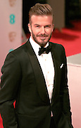 Feb 8, 2015 - EE British Academy Film Awards 2015 - Red Carpet Arrivals at Royal Opera House<br /> <br /> Pictured: David Beckham<br /> ©Exclusivepix Media