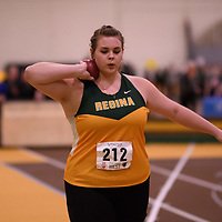 Brooke Shatkowski in action during the 2018 Canada West Track & Field Championship on February  23 at James Daly Fieldhouse. Credit: Arthur Ward/Arthur Images