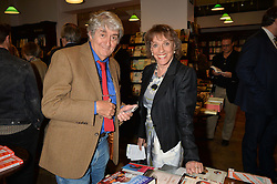 TOM CONTI and ESTHER RANTZEN at a party to celebrate the publication of Stanley I Resume by Stanley Johnson at the Daunt Bookshop, Marylebone High Street, London on 23rd September 2014.