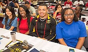 North Forest High School students enjoy the Academic Signing Day activities at the Region 4 Education Center, May 23, 2014.