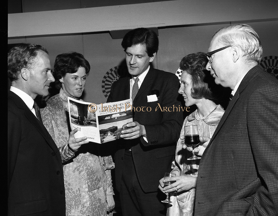 Launch of Castles,Houses and Gardens of Ireland Book.<br /> 1970.<br /> 28.05.1970.<br /> 05.28.1970.<br /> 28th May 1970.<br /> Today saw the launch of the Bord Failte Book on Castles,Houses and Gardens of Ireland. The book outlines many of castles and gardens which are open to the public within Ireland.<br /> <br /> Unfortunately we do not have the caption sheet and are therefore unable to name the people featured, if you know who they are why not let us know at irishphotoarchive@gmail.com and we will gladly add them.