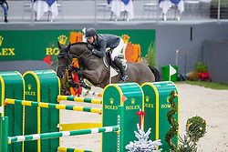ESTERMANN Paul (SUI), Anaba Haize<br /> Genf - CHI Rolex Grand Slam 2018<br /> Preis der Kommune Geneve<br /> 2-Phasen Springen<br /> 06. Dezember 2018<br /> © www.sportfotos-lafrentz.de/Stefan Lafrentz