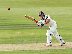 Somerset's Michael Bates flicks a shot over mid-wicket - Photo mandatory by-line: Robbie Stephenson/JMP - Mobile: 07966 386802 - 21/06/2015 - SPORT - Cricket - Southampton - The Ageas Bowl - Hampshire v Somerset - County Championship Division One