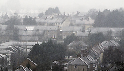 © Licensed to London News Pictures. 04/04/2013.The cold spring weather continues this afternoon with snow covered homes in the South East in April..Spring Snow Blizzards in Orpington, Kent today (04.04.2013).Photo credit : Grant Falvey/LNP