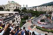 May 23-27, 2018: Monaco Grand Prix.  Start of the 76th Monaco Grand Prix from the Fairmont hairpin led by Daniel Ricciardo (AUS), Aston Martin Red Bull Racing, RB14