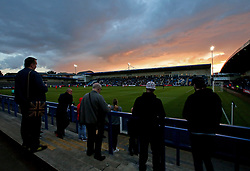 The sunsets over England Under 20s v Netherlands Under 20s at The New Bucks Head, home of AFC Telford United as fans watch on - Mandatory by-line: Robbie Stephenson/JMP - 31/08/2017 - FOOTBALL - Telford AFC - Telford, United Kingdom - England v The Netherlands - International Friendly