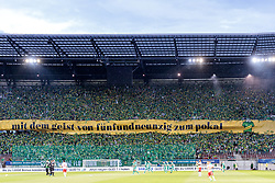 01.06.2017, Woerthersee Stadion, Klagenfurt, AUT, OeFB Samsung Cup, SK Rapid Wien vs FC Red Bull Salzburg, Finale, im Bild Choreographie SK Rapid Wien // during the Final Match of the Austrian Samsung Cup between SK Rapid Wien and FC Red Bull Salzburg at the Woerthersee Stadion in Klagenfurt, Austria on 2017/06/01. EXPA Pictures © 2017, PhotoCredit: EXPA/ Johann Groder