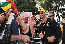March 16, 2019 - DANIEL RICCIARDO arriving for Qualifying Saturday at the 2019 Formula 1 Australian Grand Prix on March 16, 2019 In Melbourne, Australia  (Credit Image: © Christopher Khoury/Australian Press Agency via ZUMA  Wire)