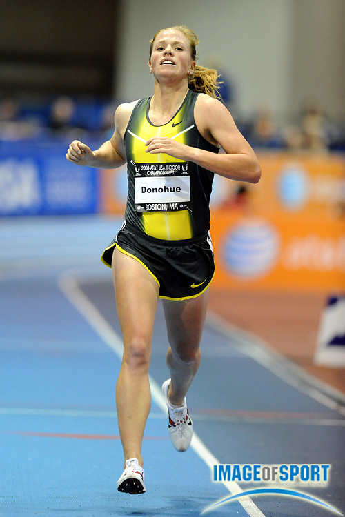 Feb 23, 2008; Boston, MA, USA; Erin Donohue was fifth in the women's 3,000m in 9:07.88 in the AT&T USA Track & Field Indoor Championships at the Reggie Lewis Center.