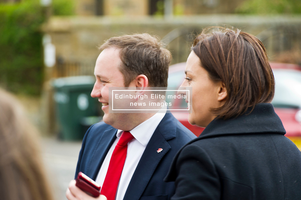 Pictured: Ian Murray and Kezia Dugdale thank the troops for their support.<br /> <br /> Scottish Labour's Ian Murray and Scottish Labour leader Kezia Dugdale hit the general election campaign trail in Edinburgh today for the first campaign event of Mr Murray's re-election campaign for the Edinburgh South constituency.<br /> Ger Harley | EEm 21 April 2017